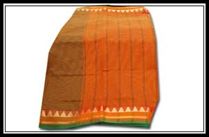 Polysilk -rich border with jerry temple, simple pallu with lines and with plain blouse piece, Rs. 350-4000/-